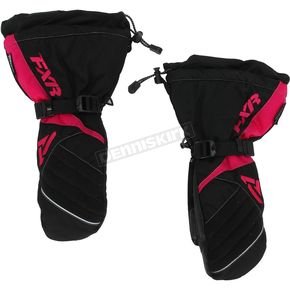 FXR Racing Womens Black/Fuchsia Fusion Mitts - 15615.90107