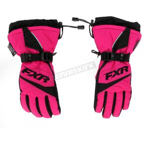 FXR Racing Youth Fuchsia Helix Race Gloves - 15620.90007