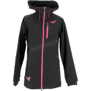 FXR Racing Womens Black Entice Extra Softshell Jacket - 15242.10018