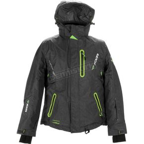 FXR Racing Womens Charcoal/Lime Pulse Jacket - 15207.70104