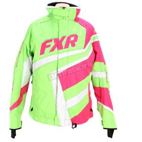 FXR Racing Womens Fuchsia/Lime Cold Cross Jacket - 15204.97006