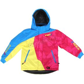 FXR Racing Childs Blue/Fuchsia/Yellow Vertical Jacket - 15307.94002