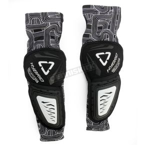 Leatt Black/White 3DF Hybrid Elbow Guards - 5015400292