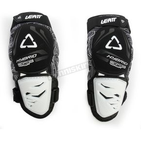 Leatt Black/White 3DF Hybrid Knee Guards - 5015400440