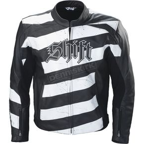 Shift Vendetta Leather Black/White Jacket - 70126