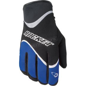 Joe Rocket Crew Black/Blue Gloves - 1056-3202