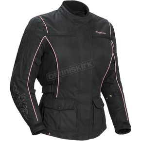 Tour Master Womens Motive Black/Pink Jacket - 8716-0108-76