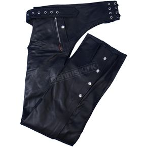 Hot Leathers Lined Unisex Leather Chaps w/Quilted Lining - CHM1006XXL