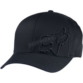 Fox Black Flex 45 FlexFit Hat - 58379-001-L/XL