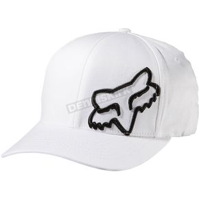 Fox White Flex 45 FlexFit Hat - 58379-008-S/M