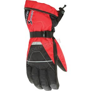 HJC Black/Red Storm Gloves - STORM