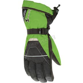 HJC Black/Green Storm Gloves - 1012-041