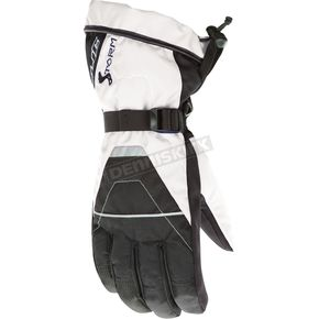 HJC Womens Black/White Storm Gloves - 1014-031