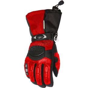 Cortech Womens Red/Black Cascade Gloves - 8403-0201-76