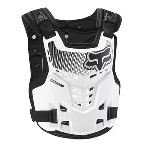 Fox White Proframe LC Roost Deflector - 06117-008-L/XL