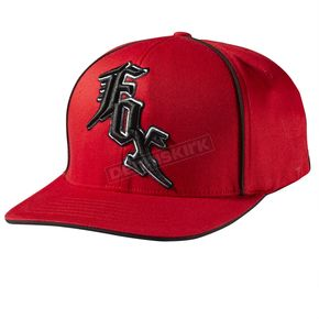 Fox Midnight Red/Black Flex-Fit Hat - 58595-055