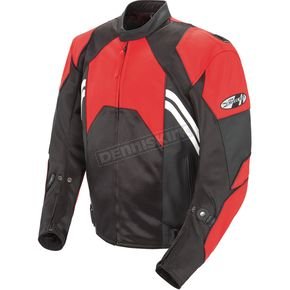 Joe Rocket Red/Black Radar Leather Jacket - 1052-1146