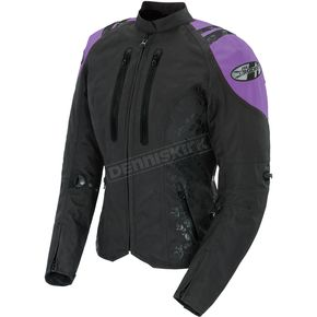 Joe Rocket Womens Black/Purple Atomic 4.0 Jacket - 1061-5803
