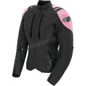 Joe Rocket Womens Black/Pink Atomic 4.0 Jacket - 1061-5902