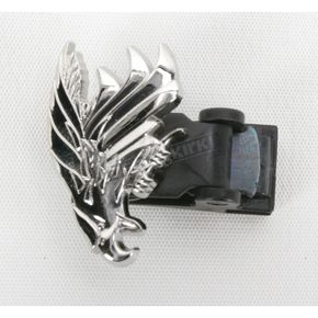 Biker Boot Straps Replacement Silver Eagle Clip  - BBS/SECL