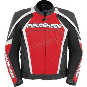 Fieldsheer Red/Silver Razor 2.0 Leather Jacket - 6095-7101-06