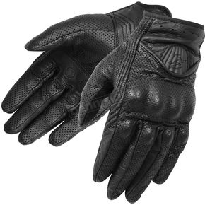 Fieldsheer Womens Black Perforated Vanity Gloves - 6209-0505-06