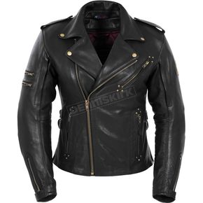 Pokerun Womens Marilyn Leather Jacket - 6615-0905-76