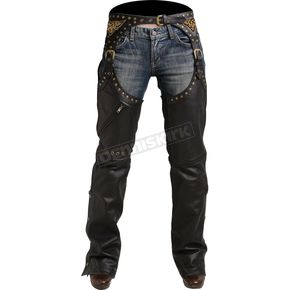 Pokerun Womens Marilyn 2.0 Leather Chaps - 6686-0305-77