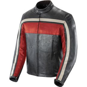 Joe Rocket Red/Black Old School Leather Jacket - 1052-2106