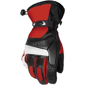 Cortech Red/Black Blitz Snowcross Gloves - 8303-0101-05