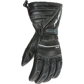 HJC Black Leather Gloves - 1220-064