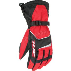 HJC Black/Red Storm Gloves - 1224-014
