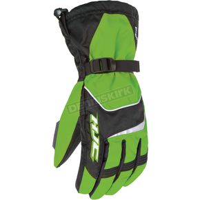 HJC Black/Green Storm Gloves - 1224-041