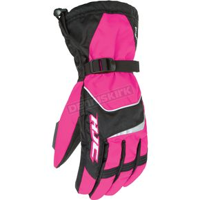 HJC Womens Pink/Black Storm Gloves - 1226-084