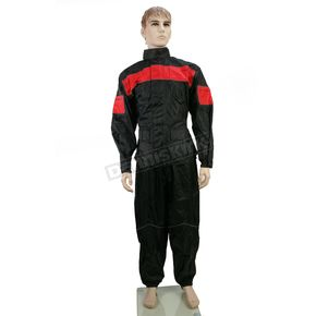 Nelson-Rigg Black/Red PS-1000 ProStorm Rain Suit - PS1000RED06-3XL