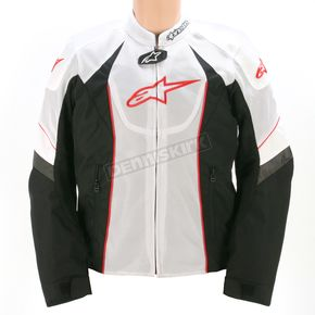 Alpinestars White/Black/Red T-GP-R Air Textile Jacket - 3305112-213-L