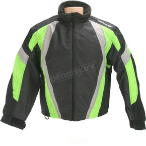 HJC Black/Green Storm Jacket - 1304-044