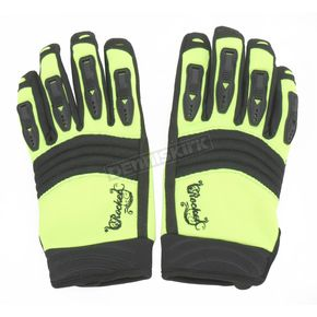 Joe Rocket Womens Hi-Viz Neon/Black Velocity Gloves - 1330-0404