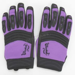 Joe Rocket Womens Purple/Black Velocity Gloves - 1330-0802