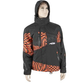 HMK Black/Orange Checker Peak 2 Jacket - HM7JPEA2OCXL