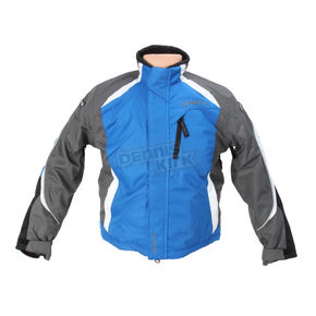 Cortech Youth Blue/Gunmetal/White Journey 3.0 Jacket - 8930-0302-55