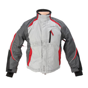 Cortech Youth Silver/Gunmetal/White Journey 3.0 Jacket - 8930-0307-54