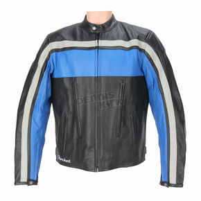 Joe Rocket Black/Blue/Gray Old School Jacket - 1052-2206