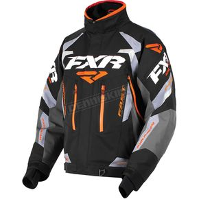 FXR Racing Black/Charcoal/Gray/Orange Adrenaline Jacket - 180002-1030-22