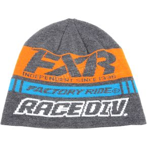 FXR Racing Charcoal Heather/Orange Race Division Beanie - 173325-0630-00
