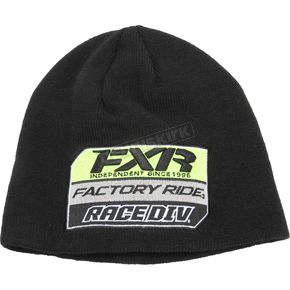 FXR Racing Black/Hi-Vis Race Division Patch Beanie - 173324-1065-00
