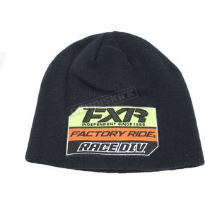 FXR Racing Navy/Orange Race Division Patch Beanie - 173324-4530-00
