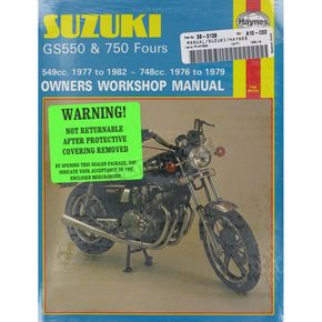 Haynes Suzuki GS550/GS750 Repair Manual  - 363