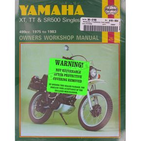 Haynes Yamaha Motorcycle Repair Manual - 342