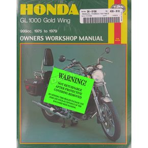 Haynes Honda GL1000 Gold Wing Repair Manual  - 309